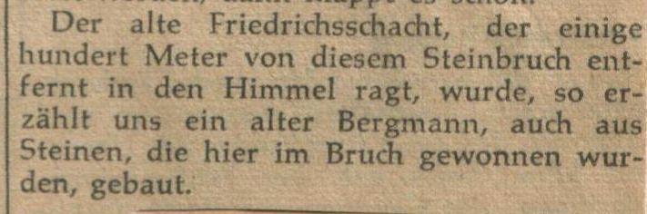 Zeitungsausschnitt: Archiv W. Dickten