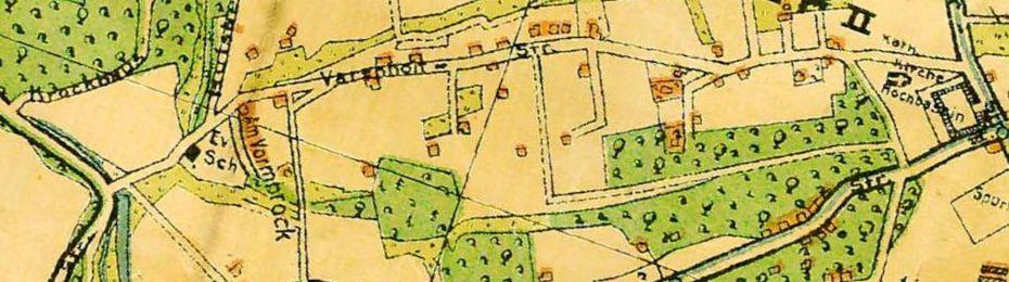 Der erste Bochumer Stadtplan für Stiepel mit der Varenholtstraße nach der Eingemeindung 1929