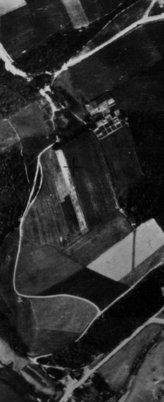 Grüner Weg auf einem Luftbild von 1926.