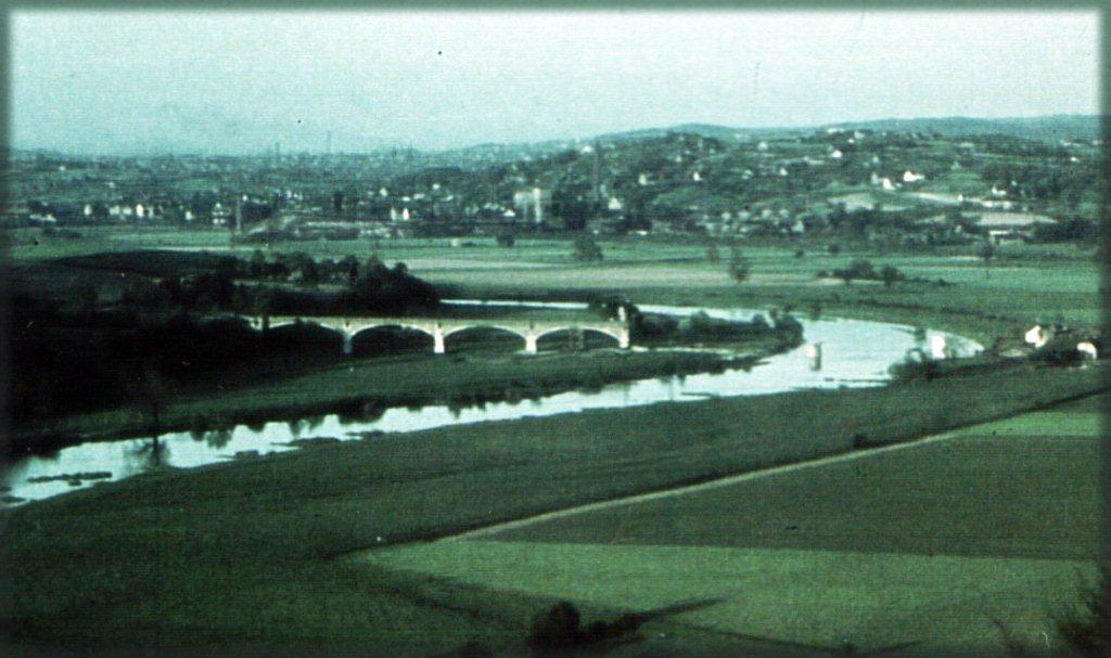 Spuren des Zweiten Weltkriegs: die Reste der im April 1945 zerstörten Kemnader Brücke