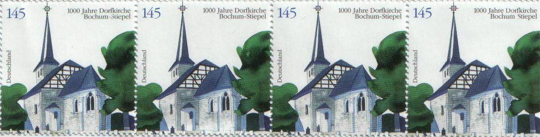 Briefmarke zum 1000 jährigen Jubiläum der Stiepeler Dorfkirche