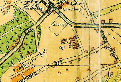 Stadtplan-Ausschnitt 1929: An der Stelle der Ziegelei ist heute der Tennis- und Sportplat. Foto: Amt für Geoinformation, Liegenschaften und Kataster der Stadt Bochum, Kontrollnummer: BO/11/367 Stadt Bochum