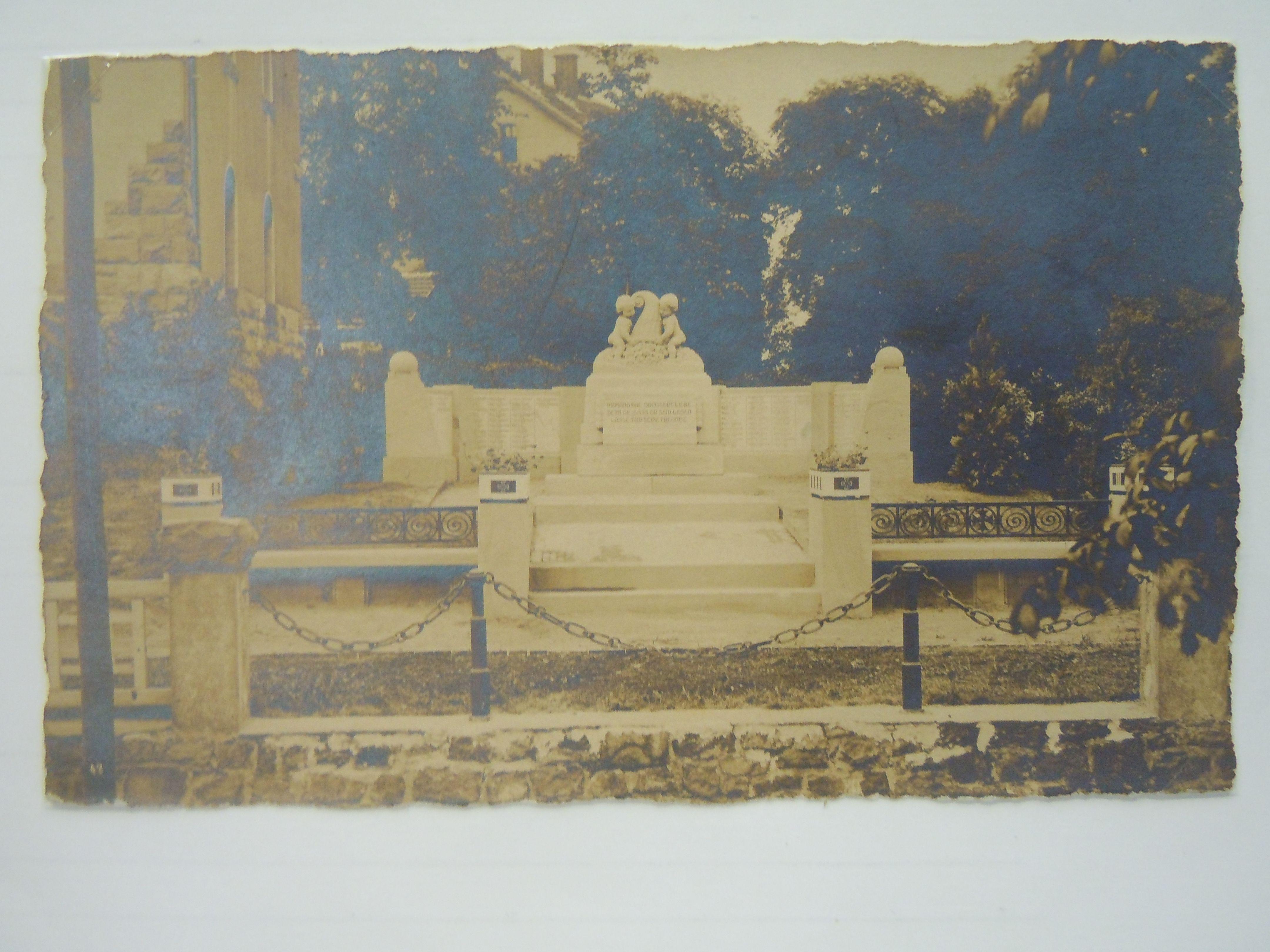 Denkmal im Jahr 1922