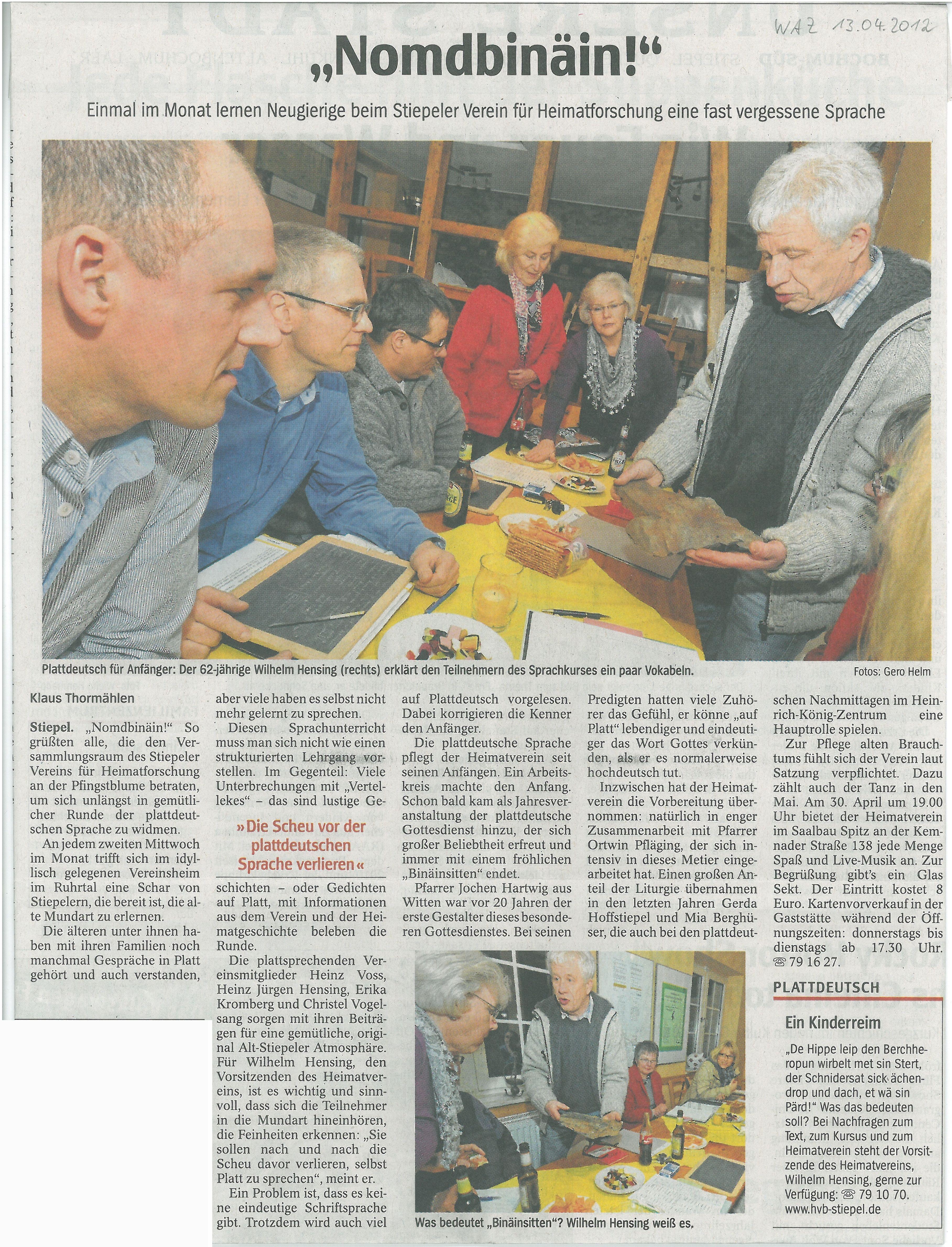 waz-plattdeutsch-pressespiegel