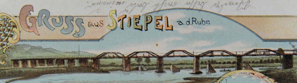Die zweite Brücke auf einer Postkarte, ca. 1910.