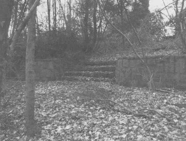 Katholischer Friedhof Stiepel, Treppenanlage, Zustand 1986