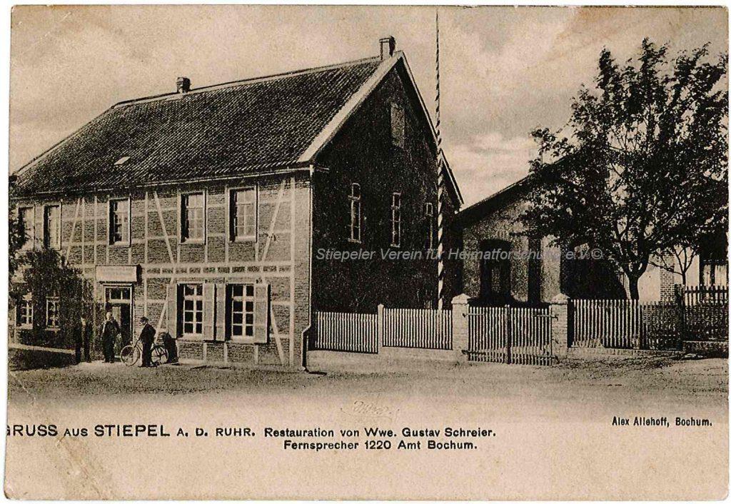 Postkarte 1923: Restauration Witwe Schreier