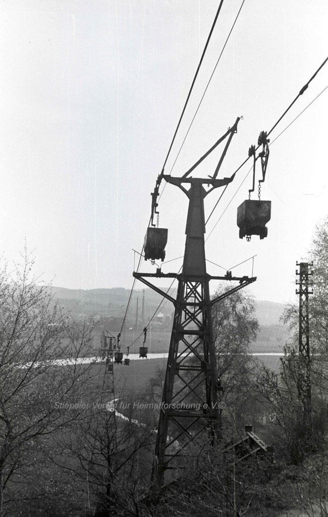 Zeche Klosterbusch: Stahlstützenkonstruktion, 1950