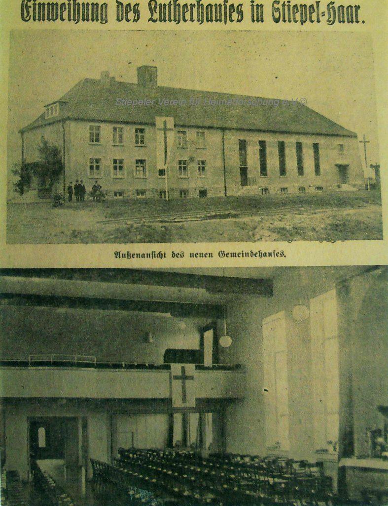 Lutherhaus: Eröffnung 1931