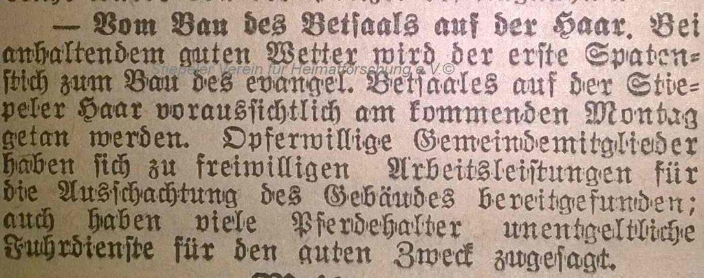 Lutherhaus: 1. Spatenstich März 1930