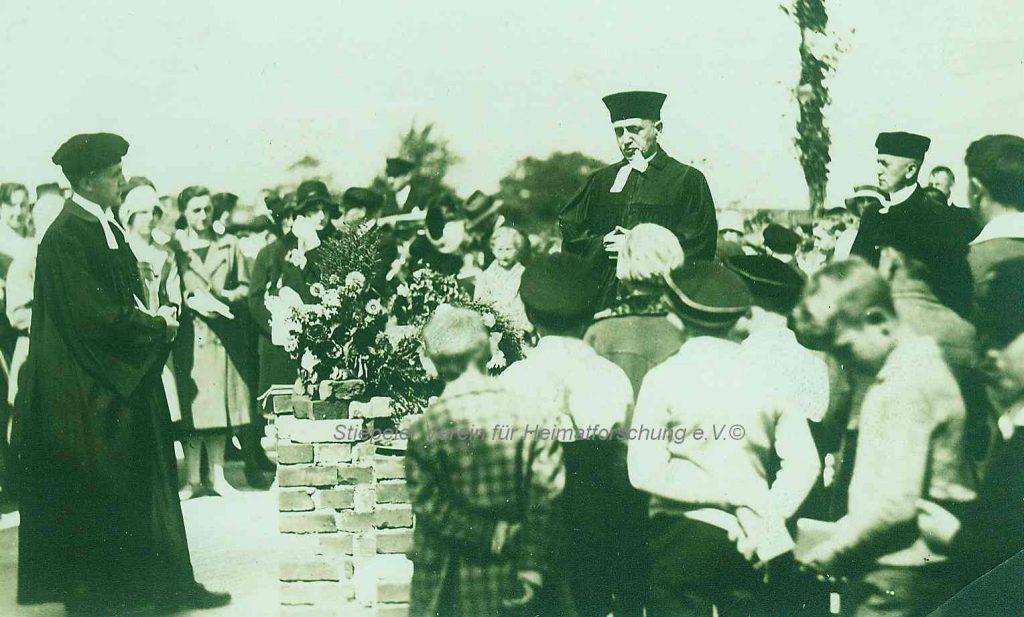 Lutherhaus: Grundsteinlegung August 1931