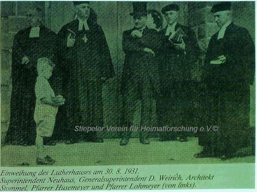 Lutherhaus: Einweihung August 1931