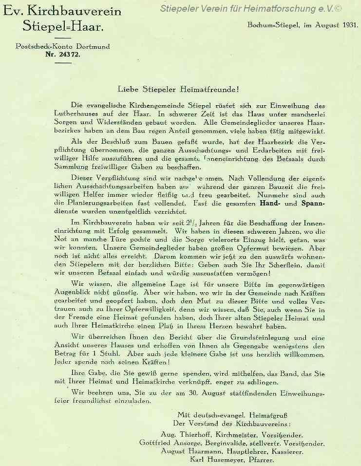 Lutherhaus: Einladung zur Einweihung