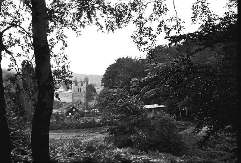 Friedrichstal, Blick von NW auf Kohleverladung und Malakowturm im Hintergrung