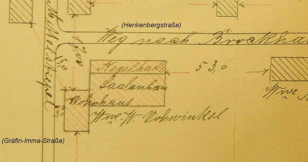 Grundriss 1894, Quelle: Stadtarchiv Bochum
