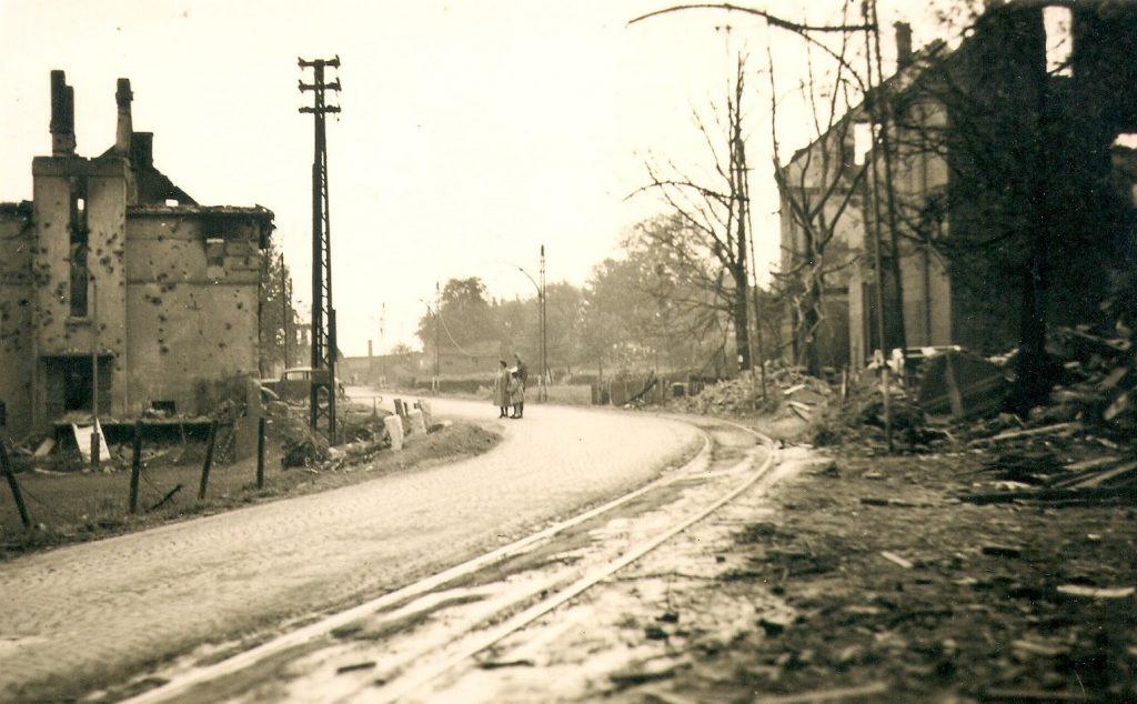 Kemnader Straße, kurz vor der Krockhausstraße, Blick nach Norden, Mai 1943