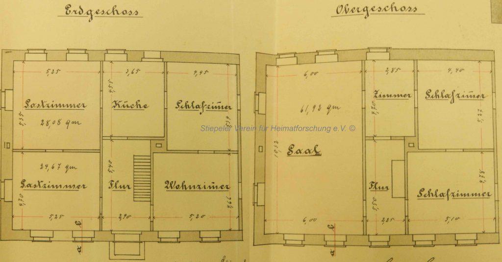 Königshof, Grundriss zum Konzessionsantrag 1898