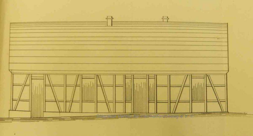 Skizze des ersten Hauses Eickmeier, um 1860