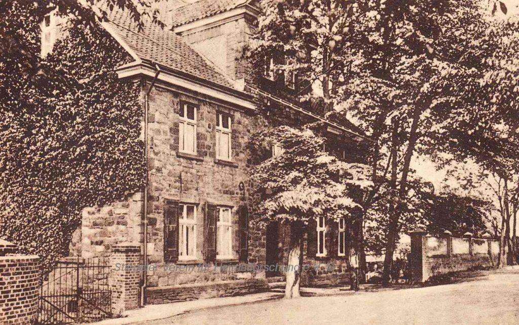 Postkarte der Gastwirtschaft von Witwe Ewald Becker, 1920er Jahre