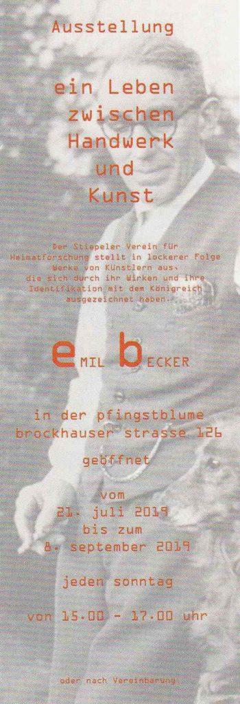 Ausstellung Emil Becker