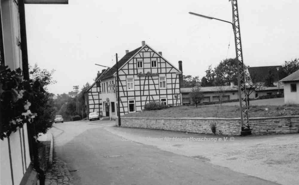 Ansicht der Brockhauser Straße 1966
