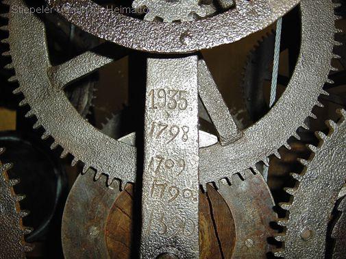 Wieder erkennbare Jahreszahlen der Herstellung und Reparaturen