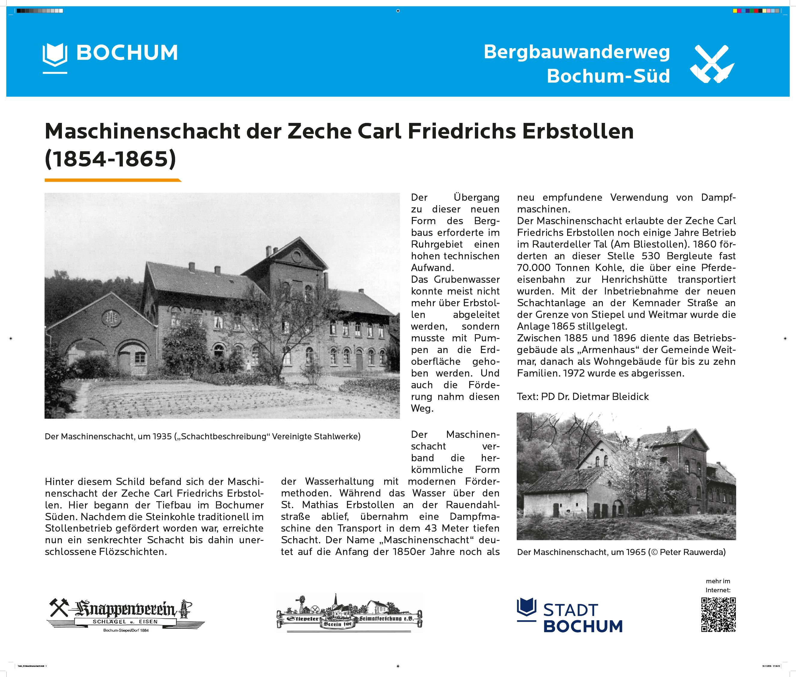 Maschinenschacht Carl Friedrich Erbstollen