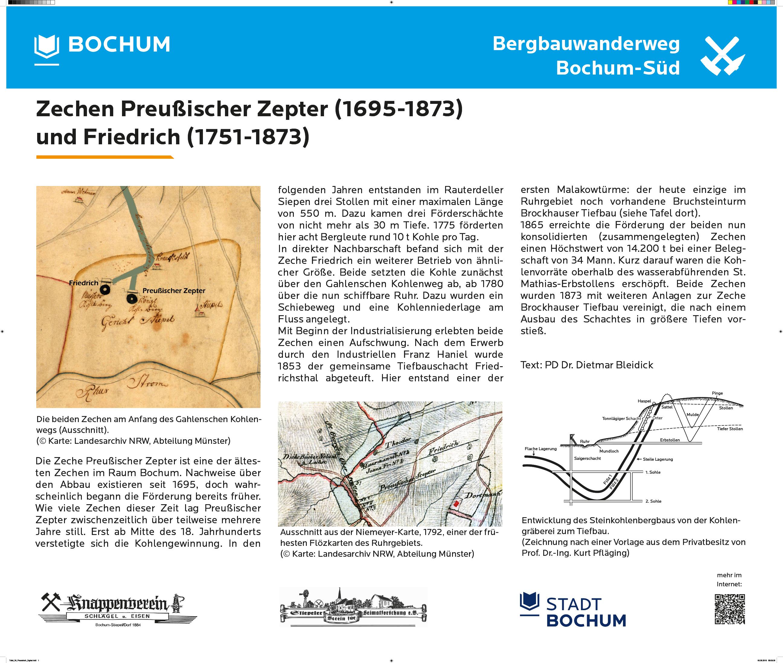 Preußisch Zepter und Friedrich