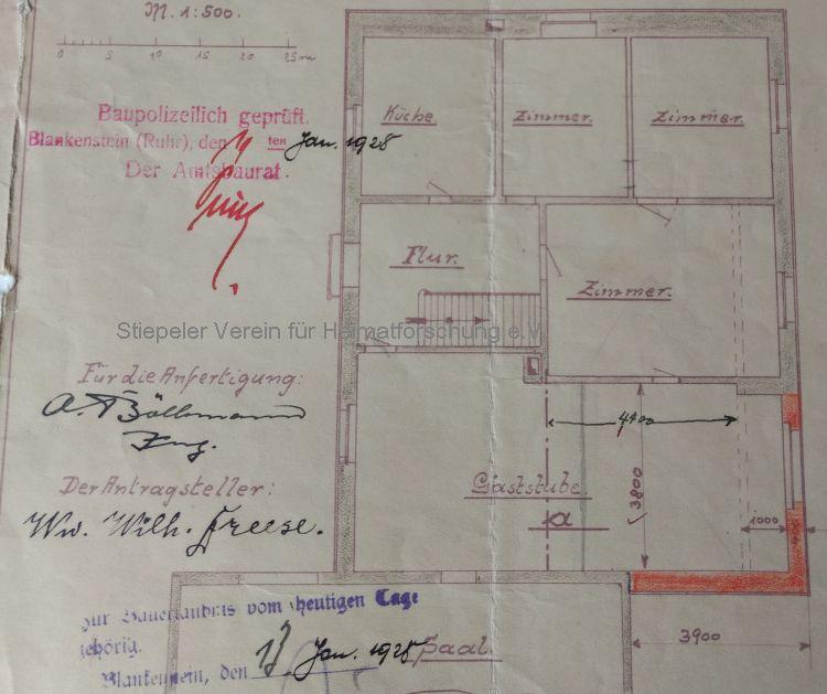 Grundriss 1928